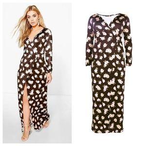Casey Floral Wrap Maxi Dress